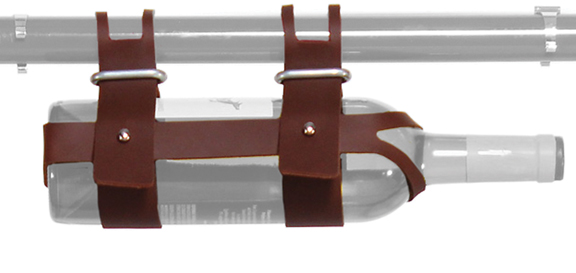 Fyxation Leather Wine Caddy Color: Brown