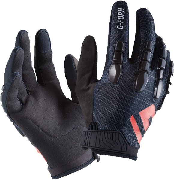 G-Form Pro Trail Gloves Color: Black/Black Topo