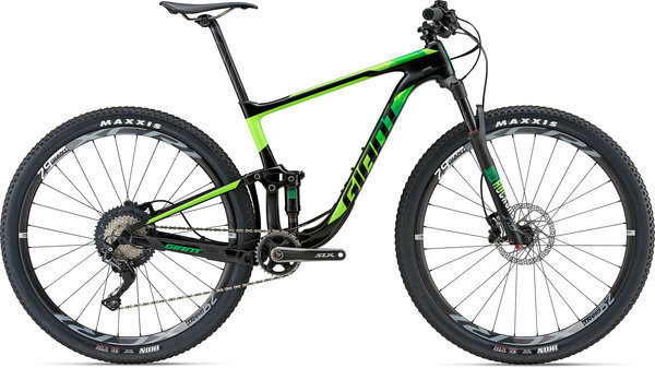 Giant Anthem Advanced 29 1 (a10) Color: Satin Black/Neon Green/Yellow