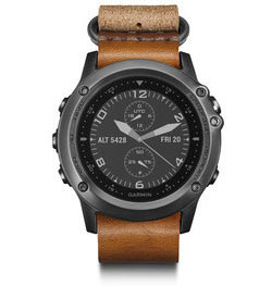 Garmin fenix 3 Sapphire Color: Gray w/Leather Strap