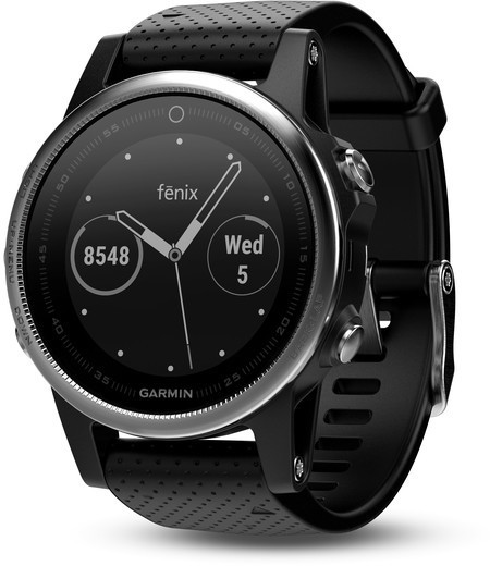 Garmin fenix 5S Color: Silver w/Black Band