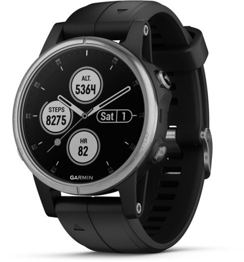 Garmin fenix 5S Plus Color: Silver w/Black Band
