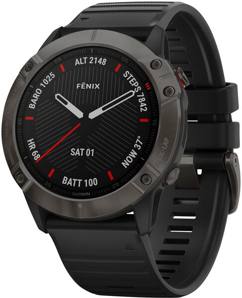 Garmin Fenix 6X Sapphire GPS Watch Color: Carbon Gray/Black