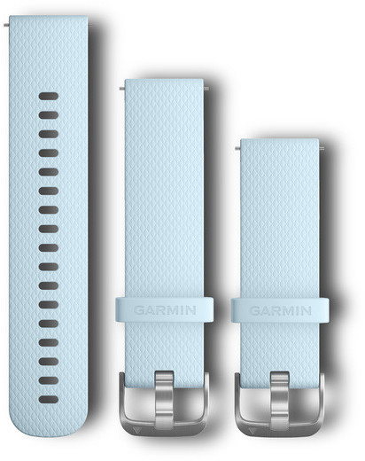 Garmin Quick Release Bands (20mm) Color: Azure Silicone Band/Stainless Steel Hardware