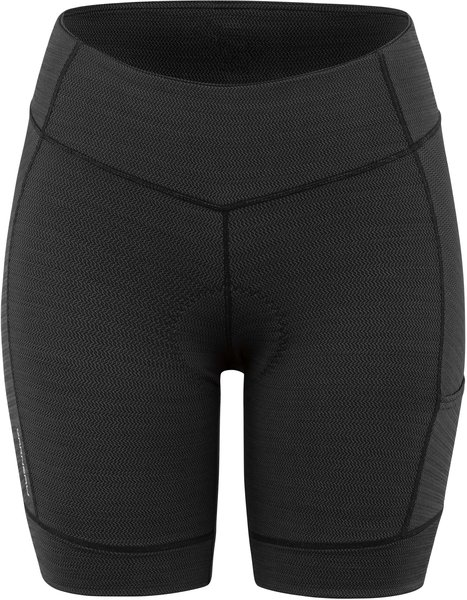 Garneau Women's Fit Sensor Texture 7.5 Shorts Color: Black