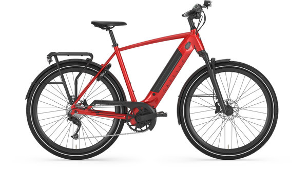 Gazelle Bikes Ultimate T10+ High-Step Color: Champion Red Gloss