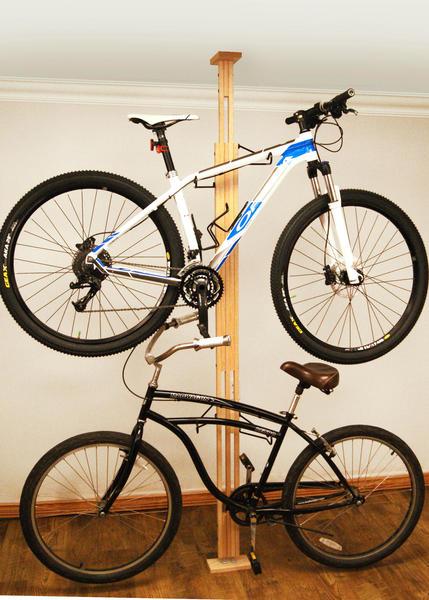 Gear Up OakRak Series-Add 1 Bike Kit-Dark Walnut
