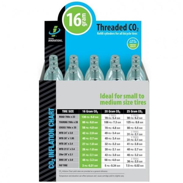 Genuine Innovations 16 Gram Threaded CO2 Cartridges (20-pack)