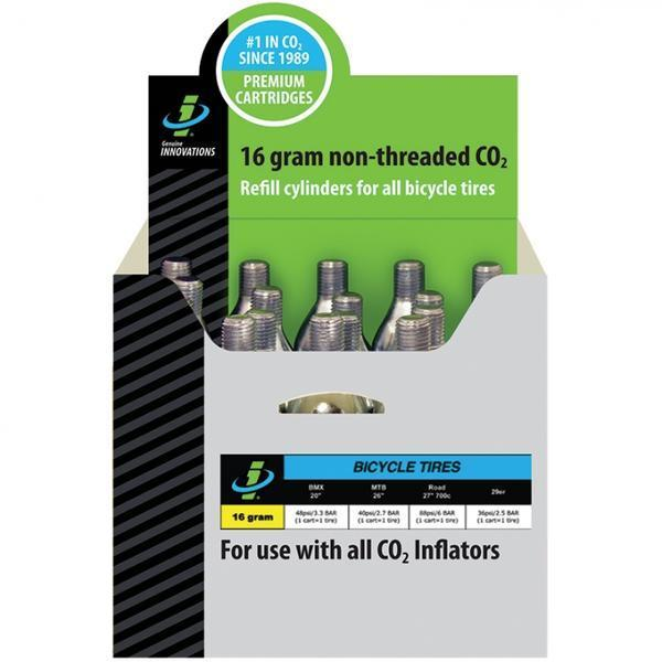 Genuine Innovations CO2 Refill Cartridges (20-pack) Quantity | Size | Type: 20-pack | 16g | Non-threaded