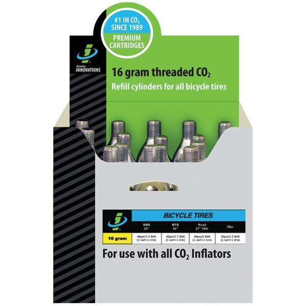 Genuine Innovations CO2 Refill Cartridges (20-pack) Quantity | Size | Type: 20-pack | 16g | Threaded