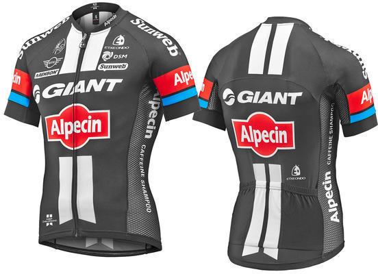 Giant 2016 Team Giant-Alpecin SE Short Sleeve Climber Jersey Color: White