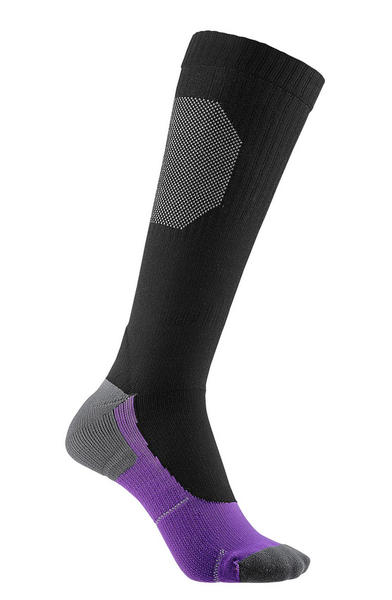 Liv Serene Compression Socks Color: Black/Purple