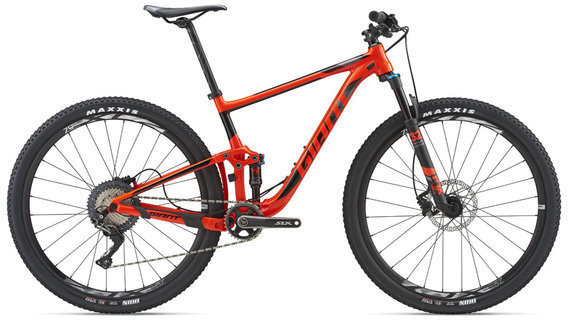 Giant Anthem 29 2 Color: Neon Red/Black