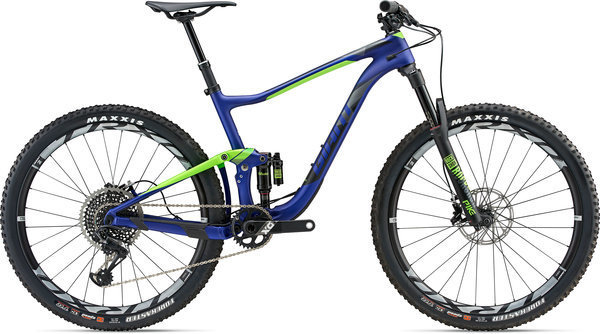 Giant Anthem Advanced 0 Color: Matte Electric Blue/Neon Green