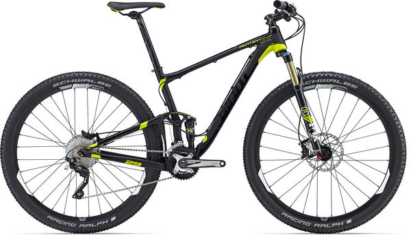Giant Anthem X 29er Color: Matte Black/Charcoal/Yellow