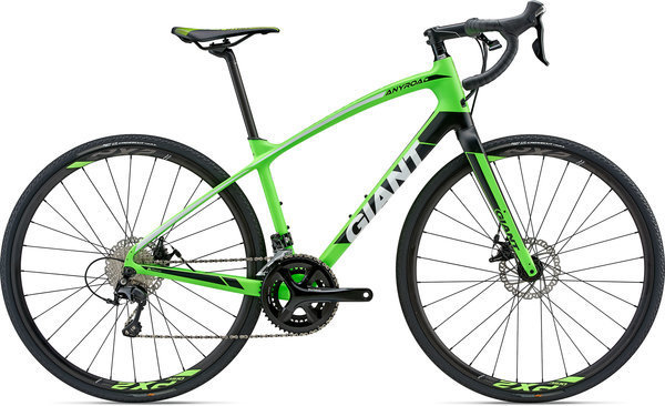 Giant AnyRoad Advanced 1 Color: Matte Neon Green/Black