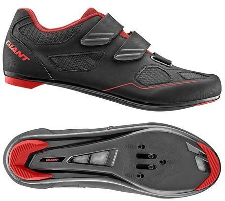 Giant Bolt Nylon Sole SPD/SPD-SL Road Shoe Color: Black/Red