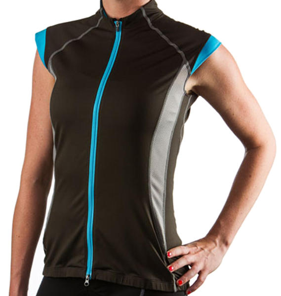 Giant Brisa Sleeveless Jersey - Women's Color: Black/Blue