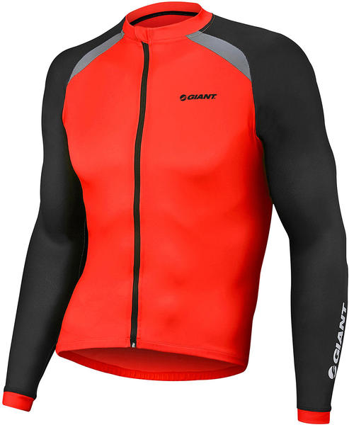 Giant Centro Long Sleeve Jersey Color: Red/Black