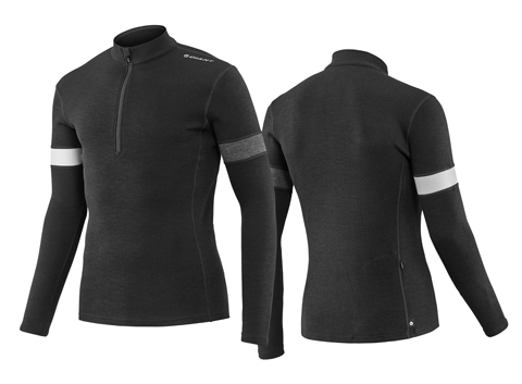 Giant Col Merino Wool L/S Jersey Color: Black