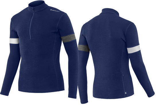 Giant Col Merino Wool Long Sleeve Jersey Color: Blue