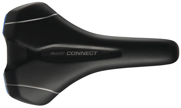 Giant Connect Upright Saddle Color: Black/Gray