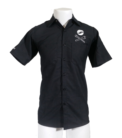 Giant Crosswrench Mechanic Shirt Color: Black
