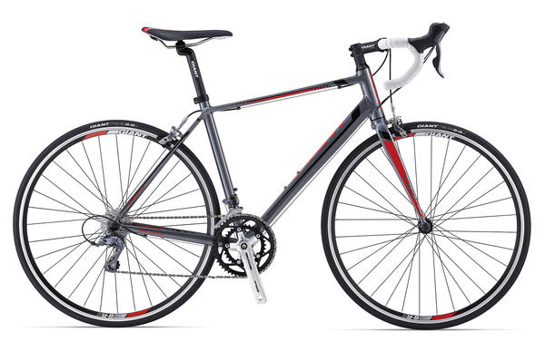 Giant Defy 5 Color: Charcoal/Red/Black