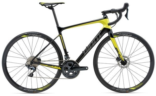 Giant Defy Advanced 1 Color: Carbon Smoke/Yellow/Charcoal
