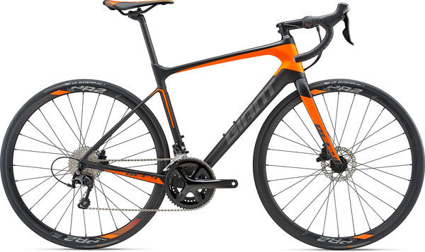 Giant Defy Advanced 2 Color: Composite Smoke/Neon Orange/Charcoal