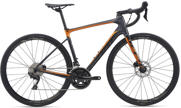 Giant Defy Advanced 2 Color: Gunmetal Black/Metallic Orange