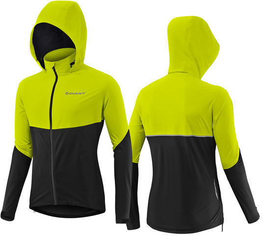 Giant Express Rain Softshell Jacket Color: Black/Yellow