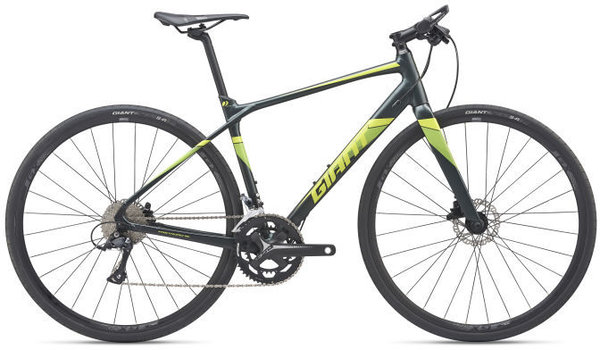 Giant FastRoad SL 2 Color: Metal Black/Lime
