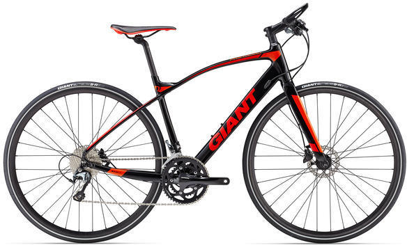 Giant FastRoad SLR 1 Color: Black/Red/Orange