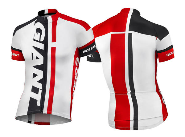 Giant GT-S Short Sleeve Jersey Color: White/Red/Black