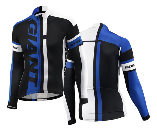 Giant GT-S Long Sleeve Jersey Color: Black/Blue