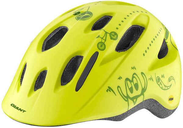 Giant Holler Youth Helmet Color: Matte Lime