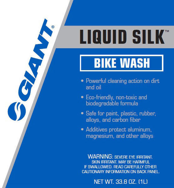 Giant Liquid Silk Bike Wash Spray Bottle Size: 33.8 oz (1L)