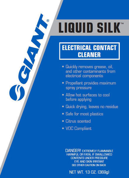Giant Liquid Silk Electrical Contact Cleaner Size: 13 oz
