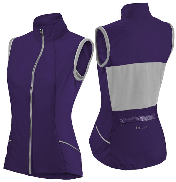Liv Wind Vest Color: Purple