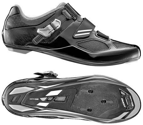 Giant Phase Composite Sole Road Shoe Color: Black/Silver