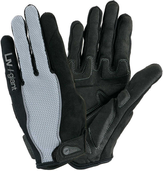 Giant Liv/Giant Plush Gel Long Finger Gloves Color: Black/Grey