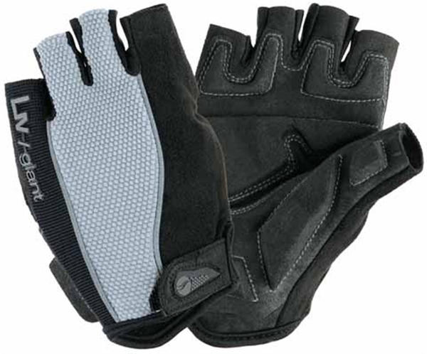 Giant Liv/Giant Plush Gel Short Finger Gloves - Women's Color: Black