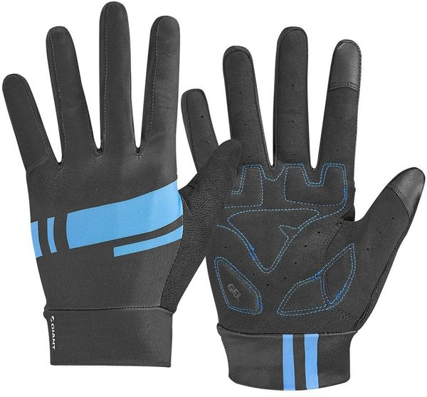Giant Podium Gel Long Finger Gloves Color: Black/Blue