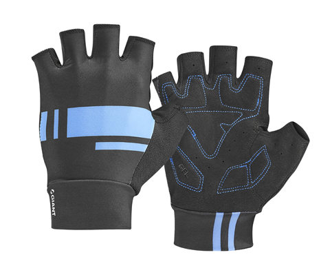 Giant Podium Gel Short Finger Gloves Color: Black/Blue