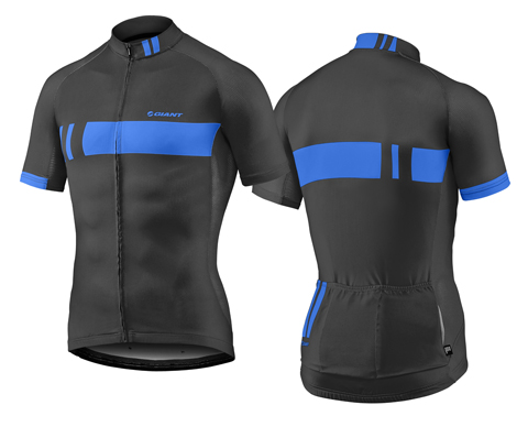 Giant Podium S/S Jersey Color: Black/Blue