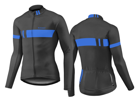 Giant Podium Thermal L/S Jersey Color: Black/Blue