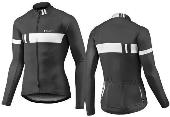Giant Podium Thermal Long Sleeve Jersey Color: Black/White