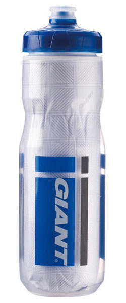 Giant PourFast EverCool Dualspring Water Bottle Color: Clear/Blue Logo