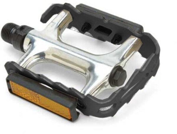Giant Pro Alloy MTB Pedals Color: Black/Silver